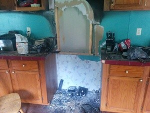 Kitchen Fire Restoration in Progress