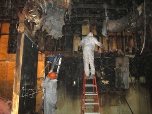 Fire Restoration Technicians at Work
