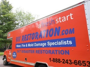 Water damage equipped truck