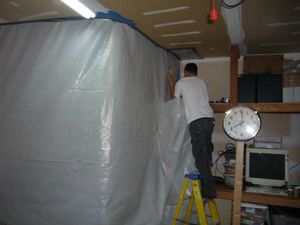 Water Damage Canton Sealing In Mold With aA Vapor Barrier