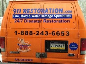 Water Damage Hutchins Back Of Van