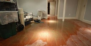 Water Damage in Front Room
